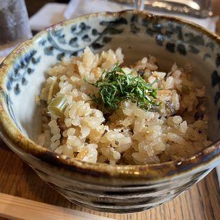 鮎の炊き込みご飯(コース)