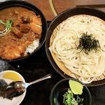 チキンカツカレー丼セット(ざるうどん)
