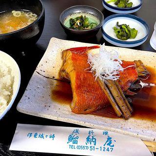 金目鯛煮付け定食