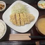 雪室熟成豚ロースかつ定食(120g)