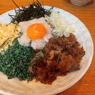 肉タヌキぶっかけ蕎麦