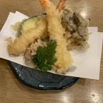 野菜天+海老天