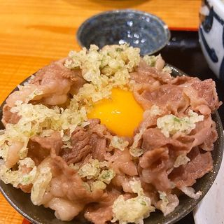 重己牛丼(お昼のセットで卵かけご飯注文)
