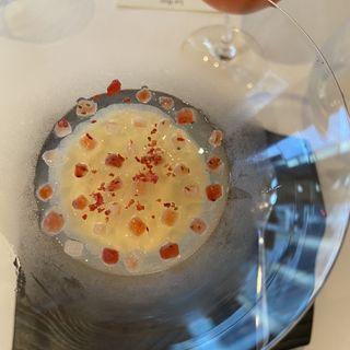ブッラータチーズと苺