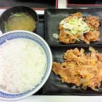 牛皿・牛カルビ定食