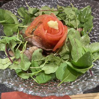 肉ひやし【限定】(烈志笑魚油 麺香房 三く)