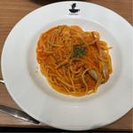 タラバ蟹のトマトクリームソース スパゲッティ