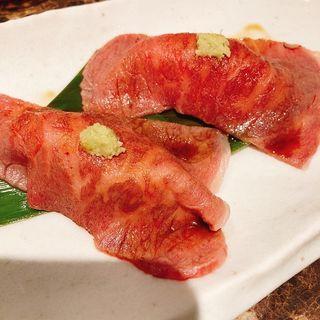 炙り肉寿司(2貫)