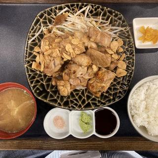 ガーリックチキンステーキ定食ダブル(500g)