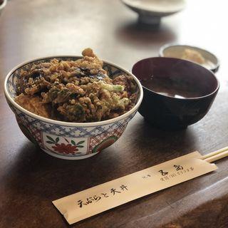 魚野菜天丼