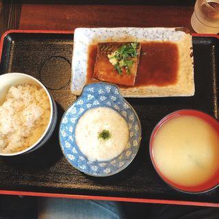 鯖の味噌煮定食 とろろ付