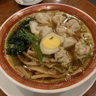 ミニ雲呑麺半麺+ミニ煮豚飯