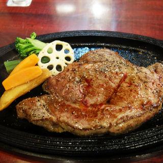 最高級USAアンガスプライムロースステーキ定食300g