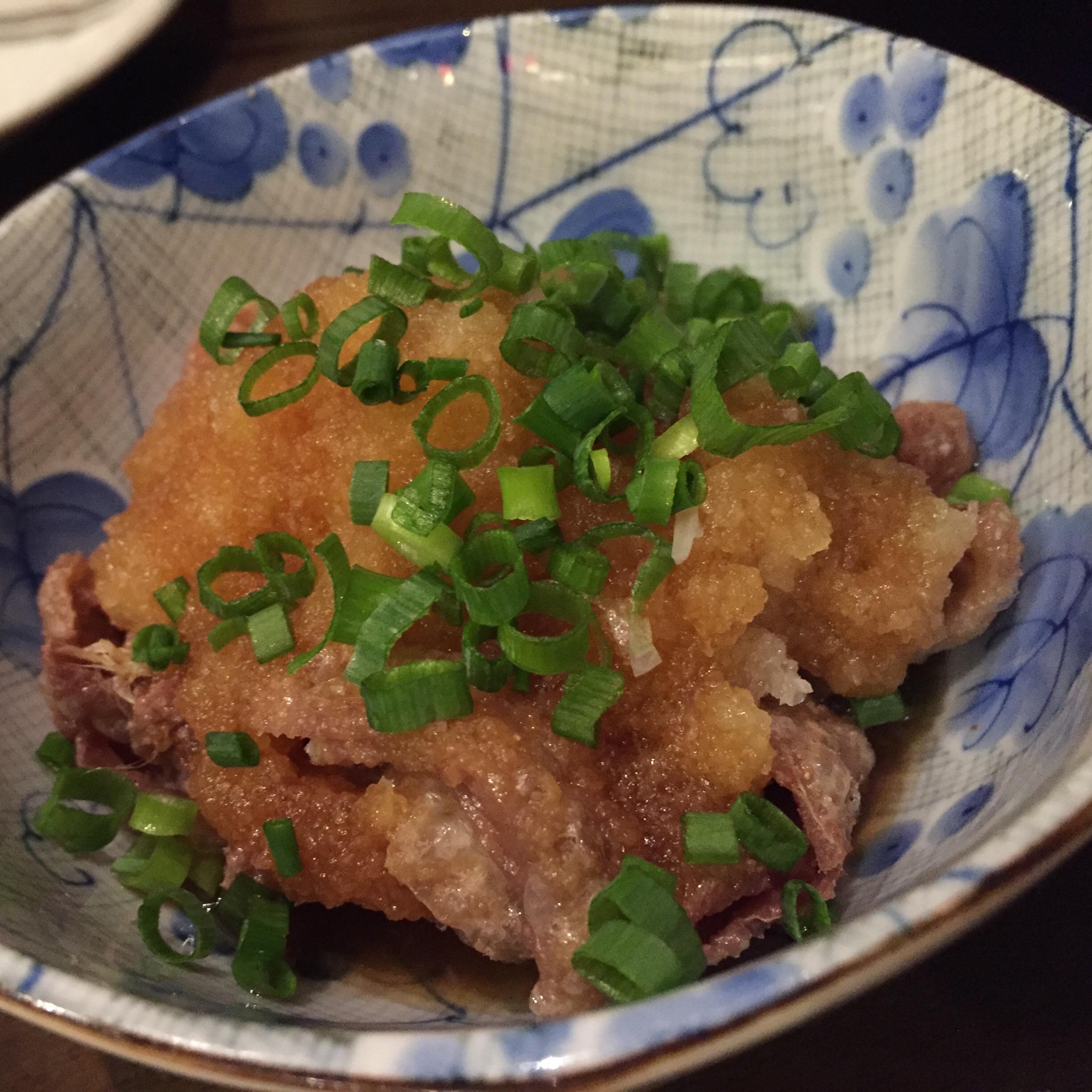 鶏かわポン酢