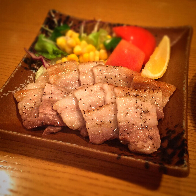豚肉の塩焼き