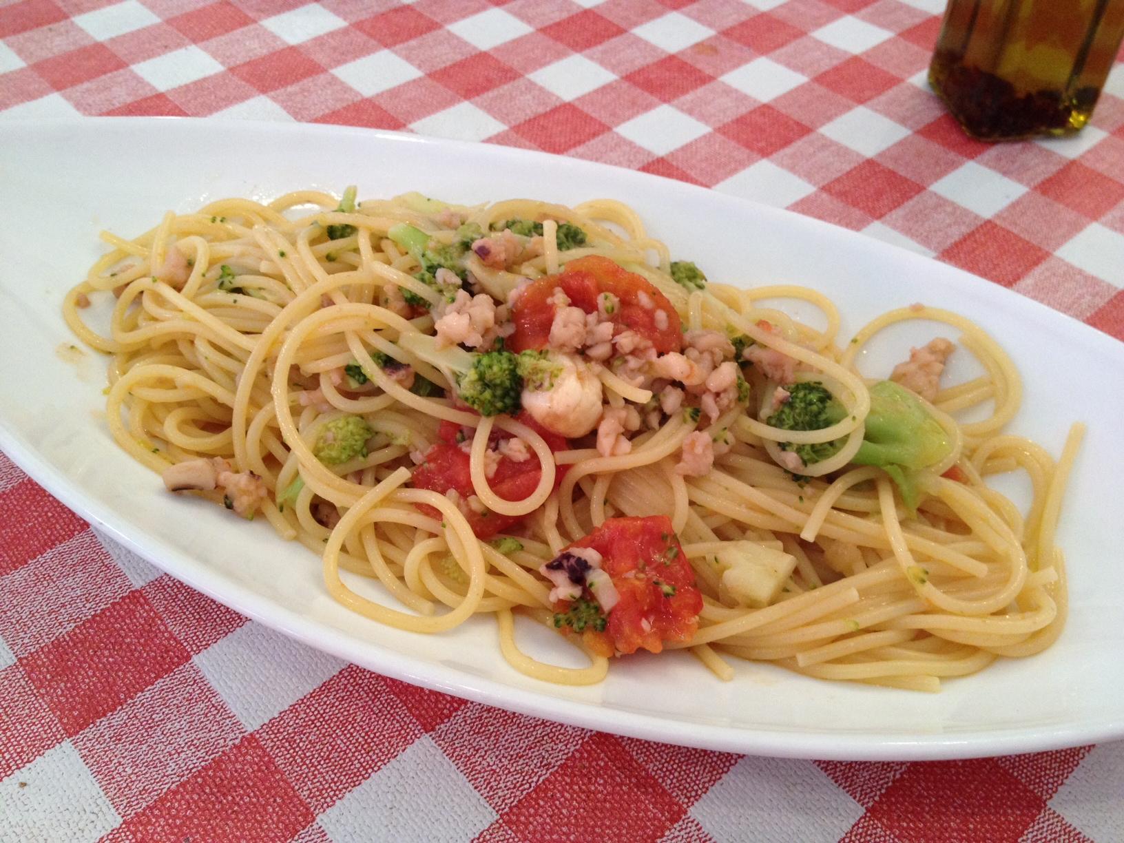 イカのスパゲッティ
