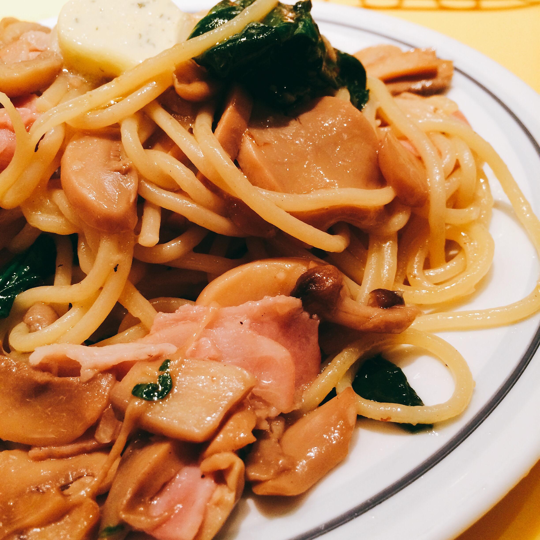 キノコのスパゲッティ