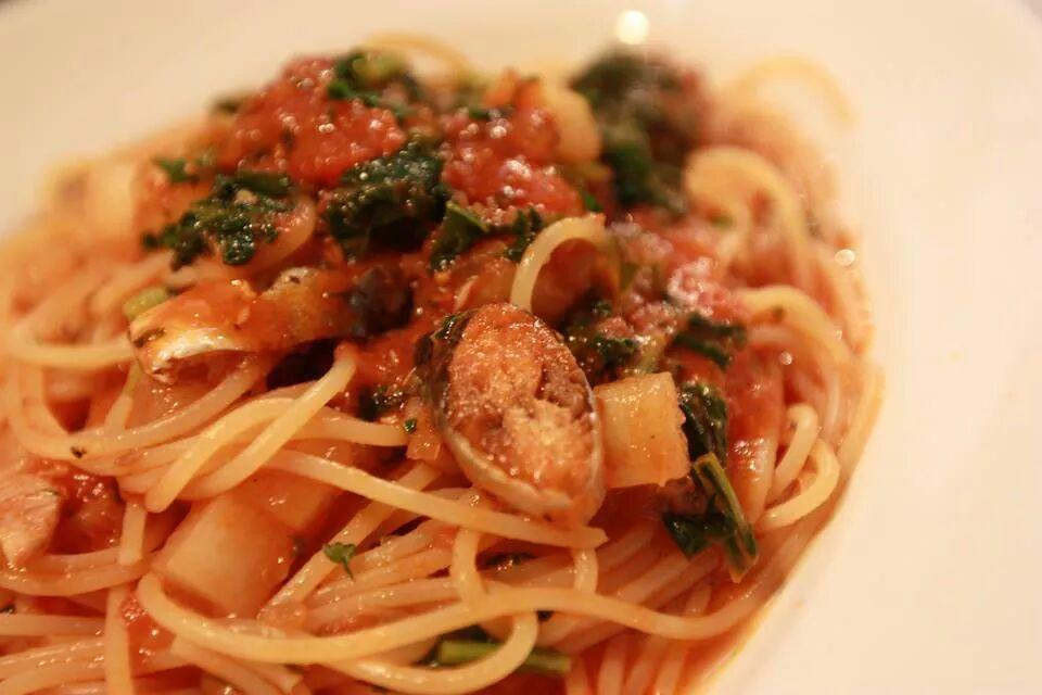 サンマのスパゲッティ